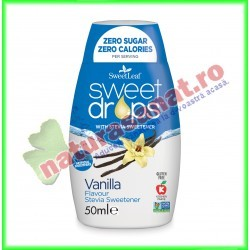 Sweet Drops cu Vanilie 50 g - Sweet Leaf - www.naturasanat.ro