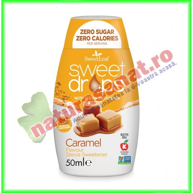 Sweet Drops cu Caramel 50 g - Sweet Leaf - www.naturasanat.ro