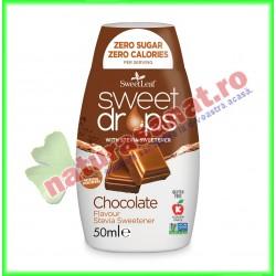 Sweet Drops cu Ciocolata 50 g - Sweet Leaf - www.naturasanat.ro