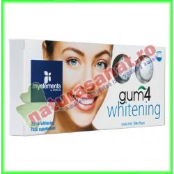 Gum4 Whitening Guma de Mestecat pentru un Zambet Sanatos si Stralucitor 10 buc - MyElements - www.naturasanat.ro