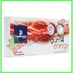 Gum4 Energy Guma de Mestecat Pentru Energizare 10 buc - MyElements - www.naturasanat.ro