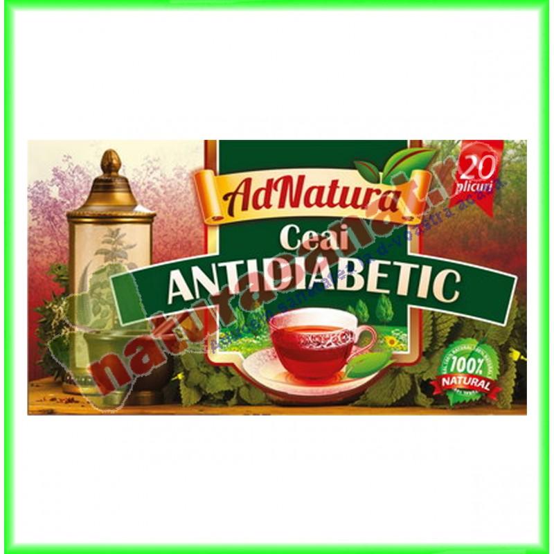 Ceai Antidiabetic 20 doze - Ad Natura - www.naturasanat.ro