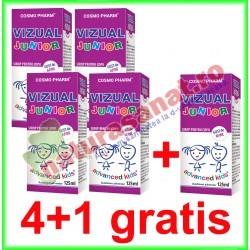 Vizual Junior Sirop 125 ml PROMOTIE 4+1 GRATIS - Cosmo Pharm - www.naturasanat.ro