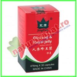 Ginseng & Royal Jelly (Laptisor de Matca) 30 capsule - Yong Kang - Co&Co Consumer - www.naturasanat.ro