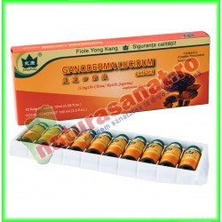 Ganoderma Lucidum 10 fiole buvabile de 10 ml fiecare - Yong Kang - Co&Co Consumer - www.naturasanat.ro