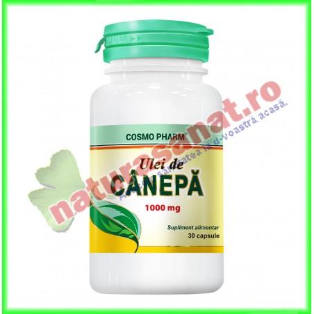 Ulei de Canepa 1000 mg 30 capsule - Cosmo Pharm - www.naturasanat.ro
