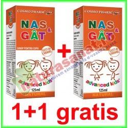 Nas si Gat Sirop 125 ml PROMOTIE 1+1 GRATIS - Cosmo Pharm - www.naturasanat.ro