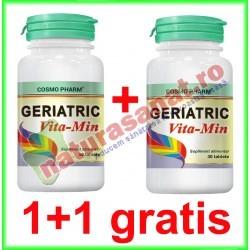 Geriatric Vita-Min 30 tablete PROMOTIE 1+1 GRATIS - Cosmo Pharm - www.naturasanat.ro