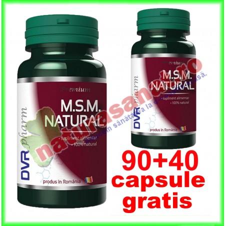 MSM Natural PROMOTIE 90+40 capsule GRATIS - DVR Pharm - www.naturasanat.ro