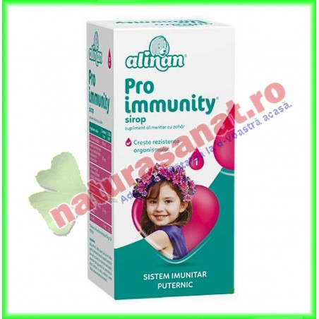 Alinan Proimmunity Sirop 150 ml - Fiterman Pharma - www.naturasanat.ro