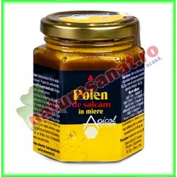 Polen de Salcam in Miere 230 g - Apicolscience - www.naturasanat.ro