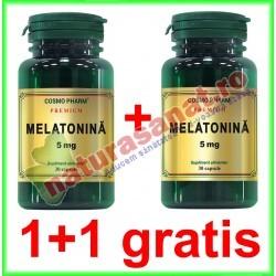 Melatonina 5 mg 30 capsule PROMOTIE 1+1 GRATIS - Cosmo Pharm - www.naturasanat.ro