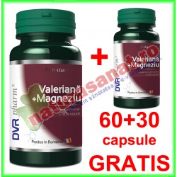Valeriana + Magneziu PROMOTIE 60+30 capsule GRATIS - DVR Pharm - www.naturasanat.ro