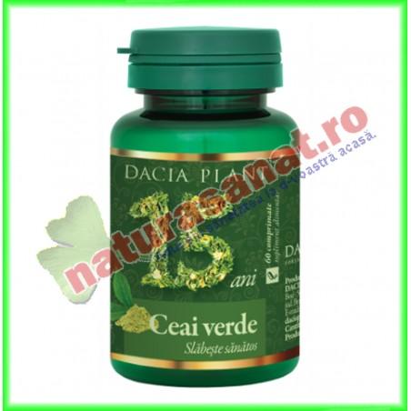 Ceai verde 60 comprimate - Dacia Plant - www.naturasanat.ro