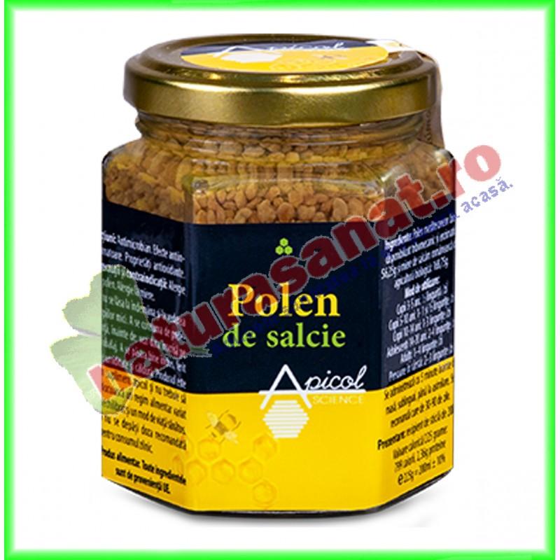 Polen Salcie Uscat 120 g - Apicolscience - www.naturasanat.ro