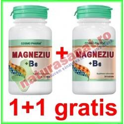Magneziu + B6 30 tablete PROMOTIE 1+1 GRATIS - Cosmo Pharm - www.naturasanat.ro
