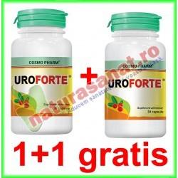 Uroforte 30 capsule PROMOTIE 1+1 GRATIS - Cosmo Pharm - www.naturasanat.ro