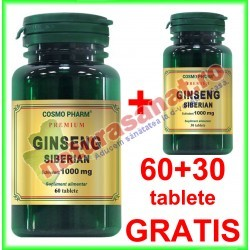 Ginseng Siberian Extract 100 mg PROMOTIE 90 tablete la pret de 60 tablete - Cosmo Pharm - www.naturasanat.ro