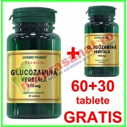 Glucozamina Vegetala 750 mg PROMOTIE 60+30 tablete GRATIS - Cosmo Pharm - www.naturasanat.ro