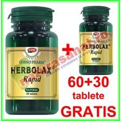 Herbolax Rapid PROMOTIE 60+30 tablete GRATIS - Cosmo Pharm - www.naturasanat.ro