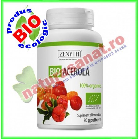 Bio Acerola Pulbere 80 g - Zenyth - www.naturasanat.ro