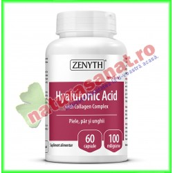 Hyaluronic Acid with Collagen Complex 60 capsule - Zenyth - www.naturasanat.ro