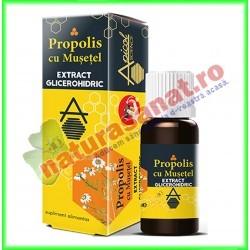 Propolis cu Musetel Extract Glicerohidric 30 ml - Apicolscience - www.naturasanat.ro