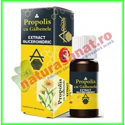 Propolis cu Galbenele 30 ml - Apicolscience - www.naturasanat.ro