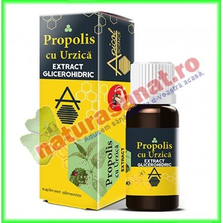 Propolis cu Urzica Extract Glicerohidric 30 ml - Apicolscience - www.naturasanat.ro