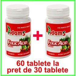 Acid Folic 400 µg PROMOTIE 60 tablete la pret de 30 tablete - Adams Vision