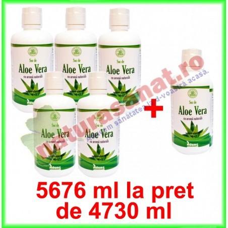 Aloe Vera Suc PROMOTIE 5676 ml la pret de 4730 ml - Adams Vision