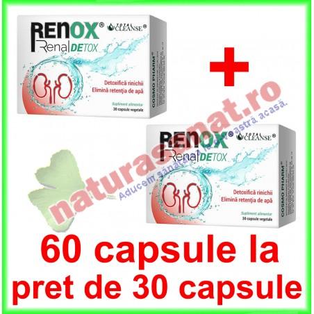 Renox Renal Detox 60 capsule la pret de 30 capsule vegetale - Cosmo Pharm - www.naturasanat.ro