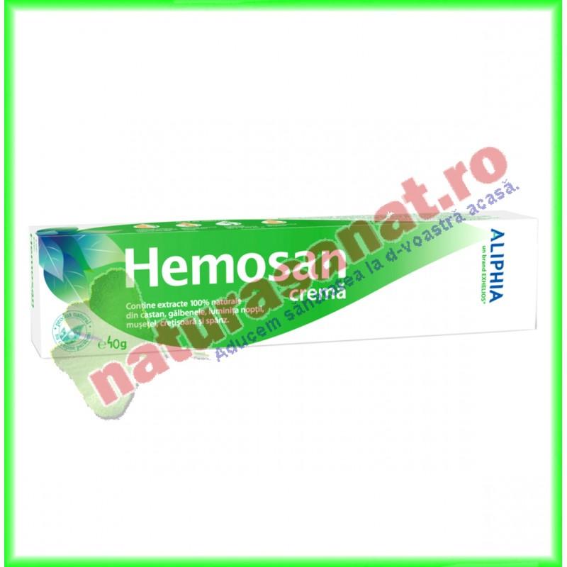 Hemosan Crema 40g - Exhelios - www.naturasanat.ro