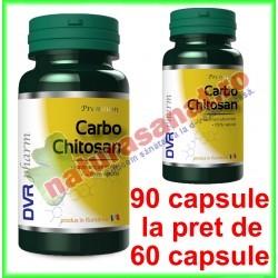 Carbo Chitosan PROMOTIE 90 capsule la pret de 60 capsule - DVR Pharm - www.naturasanat.ro