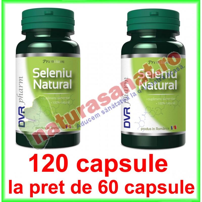 Seleniu Natural PROMOTIE 120 capsule la pret de 60 capsule - DVR Pharm - www.naturasanat.ro