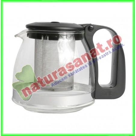 Ceainic din Sticla cu Infuzor 1250 ml - Naturalia Diet - www.naturasanat.ro