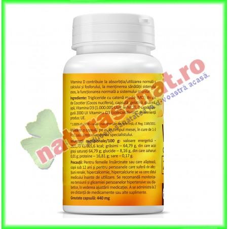 Super Vitamin D3, 2000 UI PROMOTIE 90 capsule la pret de 60 capsule - Zenyth - www.naturasanat.ro