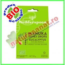 Bomboane cu Miere de Manuka, Eucalipt si Propolis 120 g - Wedderspoon - www.naturasanat.ro