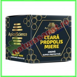Crema Super-Protectiva cu Ceara, Propolis si Miere 75 ml - Apicolscience - www.naturasanat.ro