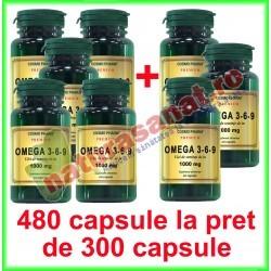 Omega 3-6-9 Ulei de In 1000 mg PROMOTIE 480 capsule la pret de 300 capsule - Cosmo Pharm - www.naturasanat.ro