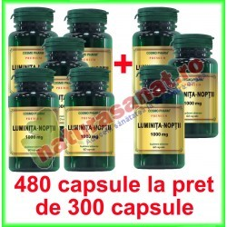 Luminita Noptii 1000 mg PROMOTIE 480 capsule la pret de 300 capsule - Cosmo Pharm - www.naturasanat.ro