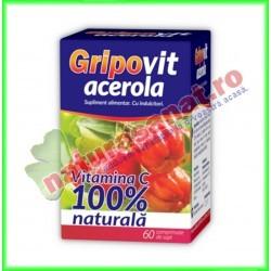 Gripovit Acerola 60 comprimate de supt - Zdrovit - www,naturasanat.ro