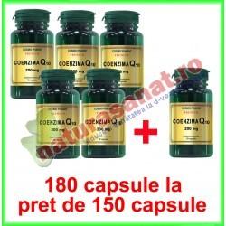 Coenzima Q10 200 mg PROMOTIE 180 capsule la pret de 150 capsule - Cosmo Pharm - www.naturasanat.ro