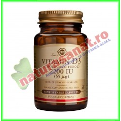 Vitamina D3 2200 UI (Colecalciferol) (50 µg) 90 tablete - Solgar - www.naturasanat.ro