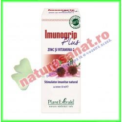 Imunogrip Plus Zinc si vitamina C 50 ml - PlantExtrakt - PlantExtrakt