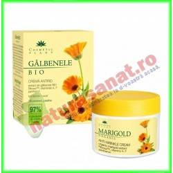 Crema Antirid cu Galbenele si Vitaminele A, E, F si Pantenol 50 ml - Cosmetic Plant