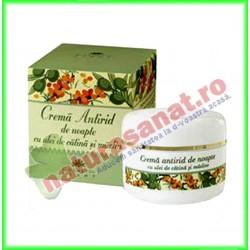 Crema Antirid de Noapte cu Ulei de Catina si Masline 50 ml - Cosmetic Plant