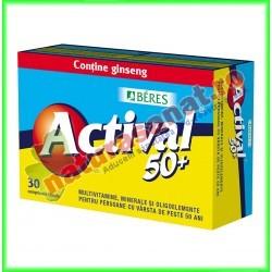 Actival 50+ 30 comprimate - Beres - www.naturasanat.ro