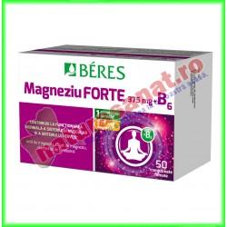Magneziu forte 375 mg + B6 50 comprimate filmate - Beres - www.naturasanat.ro