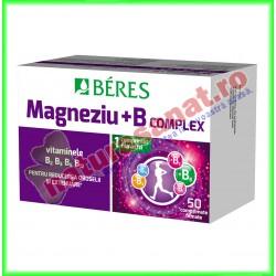 Magneziu + B complex 50 comprimate filmate - Beres - www.naturasanat.ro